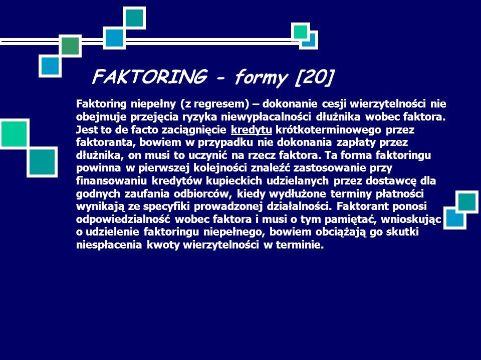 FAKTORING - formy [20]